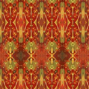 Crocrosmia Kilim in Paprika