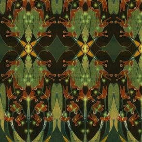 Crocrosmia Kilim in Hemlock