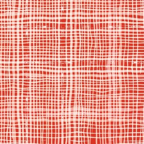 Prairie Gingham Western Red