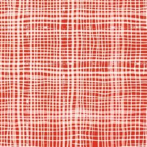 Prairie Gingham Western Red