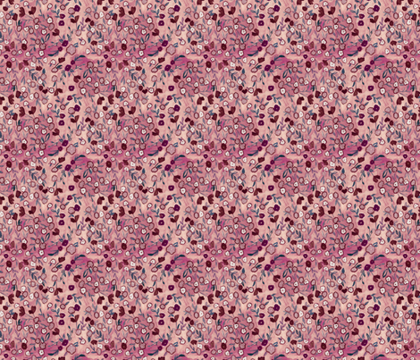 Prairie Tale Ditsy - Blackberry fabric by katebillingsley on Spoonflower - custom fabric