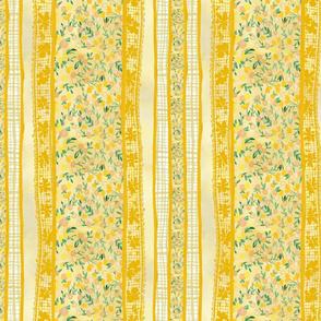Prairie Tale Stripe - Dandelion