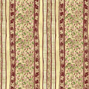Prairie Tale Stripe - Wildflowers