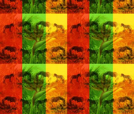Zebras & Birds of Paradise Flowers fabric by b2b on Spoonflower - custom fabric