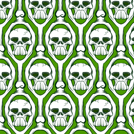 Toothy Skull 2 Fabric By Jadegordon On Spoonflower