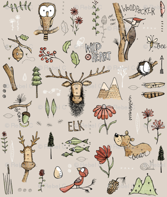 Nature Study - With Elk! - Teeny tiny