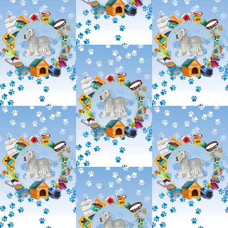 Cesky Terrier fabric by altrincham on Spoonflower - custom fabric