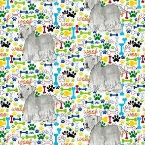 Cesky terrier woof bones paws