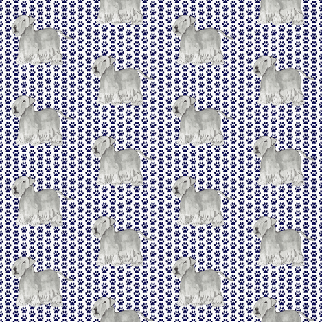 Cesky terrier pawprints fabric by altrincham on Spoonflower - custom fabric