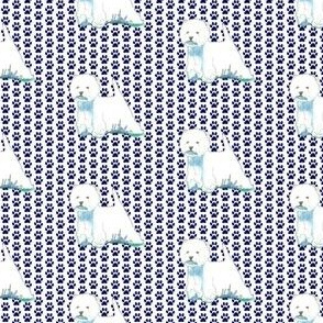 West highland terrier westie pawprints