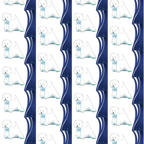 Westie West Highland Terrier Stars fabric by altrincham on Spoonflower - custom fabric