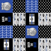 Police (Canadian Flag) Patchwork  - back the blue -  thin blue line flag -  wholecloth (90)