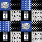 Police (Canadian Flag) Patchwork  - thin blue line flag -  wholecloth (90)