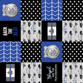 Police (Canadian Flag) Patchwork  - Blessed are the peacemakers -  thin blue line flag -  wholecloth (90)