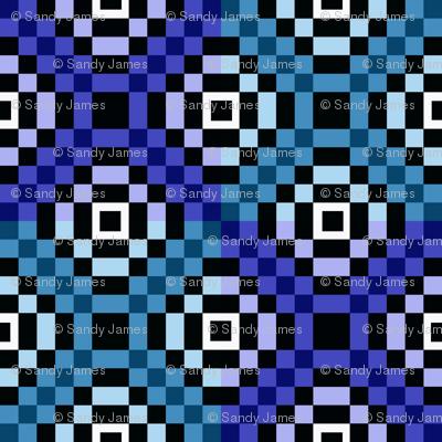 kilim blues 8x8