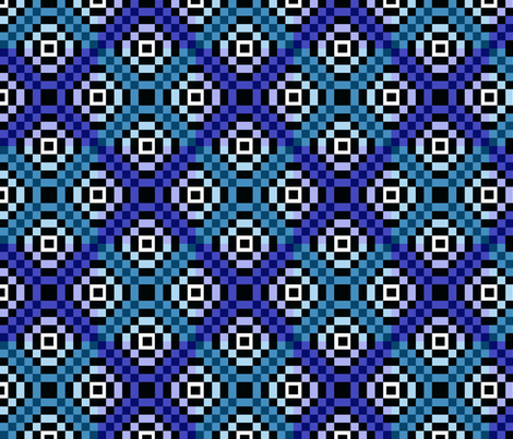 kilim blues 8x8 fabric by leroyj on Spoonflower - custom fabric