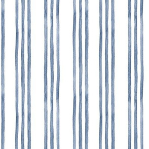 Blue and White Watercolor Stripes
