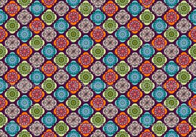 Spanish Tiles on magenta