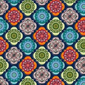 Spanish Tiles on blue