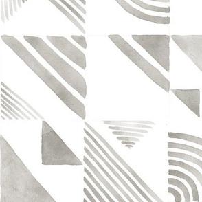Watercolor Tiles - Gray