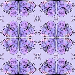 Purple Hearts - Mirrored Design