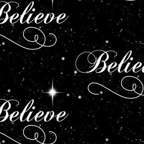 Believe Script - Black Background