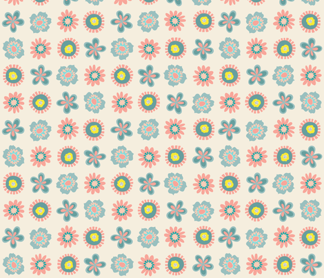 Llama Flower Coordinate fabric by mariafaithgarcia on Spoonflower - custom fabric