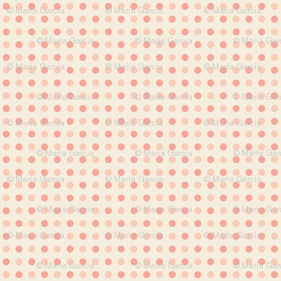 Peach and Pink Dots - Small