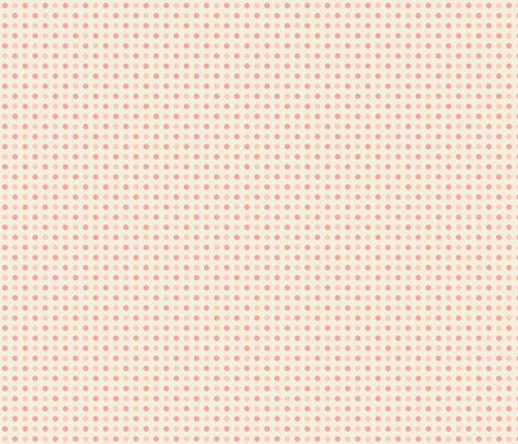Peach and Pink Dots - Small fabric by mariafaithgarcia on Spoonflower - custom fabric
