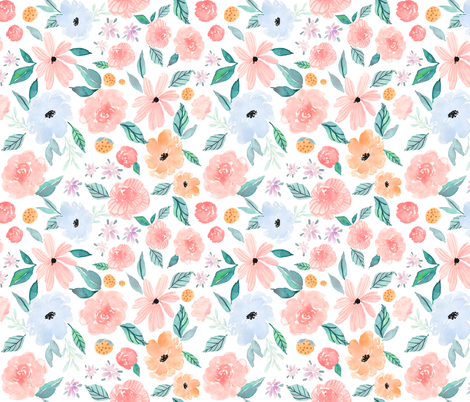 Indy Bloom Design Shortcake Dreams B fabric by indybloomdesign on Spoonflower - custom fabric