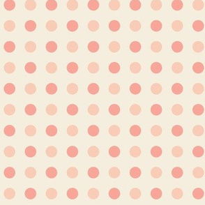 Peach and Pink Dots