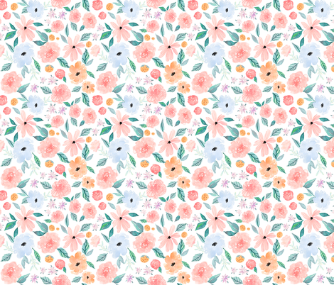 Indy Bloom Design Shortcake Dreams A fabric by indybloomdesign on Spoonflower - custom fabric