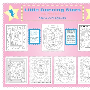 Little Dancing Stars, One Yard Panel Cut, Paint and Sew