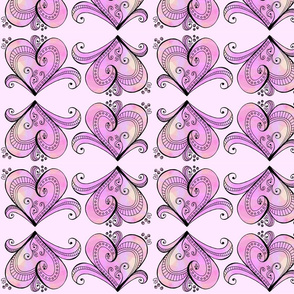 Pink Hearts Row Design
