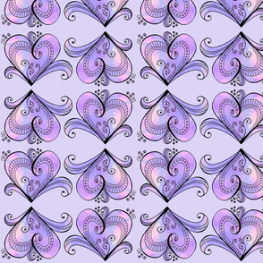 Purple Hearts Row Design