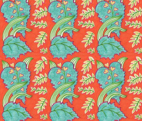 singapore leaves  fabric by bronwen_dace_ on Spoonflower - custom fabric