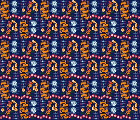 African_Pattern900Blue fabric by ninkybink on Spoonflower - custom fabric