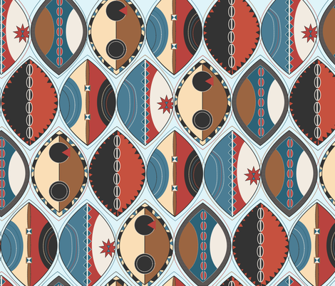 Maasai Shields  fabric by meredith_watson on Spoonflower - custom fabric