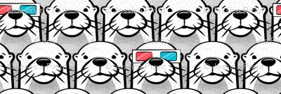 one cool otter - monochrome w/ 3D glasses
