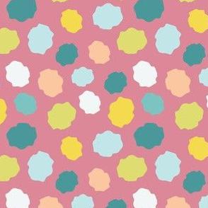 Flower Center Polka Dots