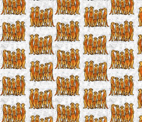 Meerkat Batik fabric by willowbirdstudio on Spoonflower - custom fabric