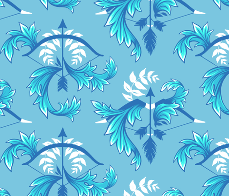 Acanthus & Artemis fabric by andreaalice on Spoonflower - custom fabric
