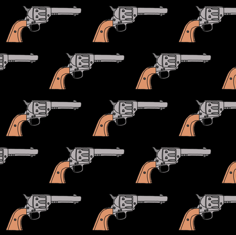 Guns on Black fabric by thinlinetextiles on Spoonflower - custom fabric