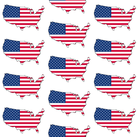 USA Flag Overlay fabric by thinlinetextiles on Spoonflower - custom fabric