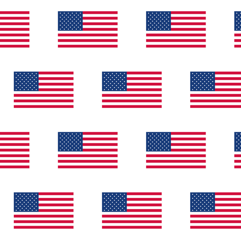 American Flags fabric by thinlinetextiles on Spoonflower - custom fabric