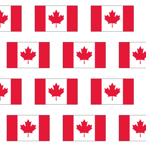 Canadian Flag fabric by thinlinetextiles on Spoonflower - custom fabric
