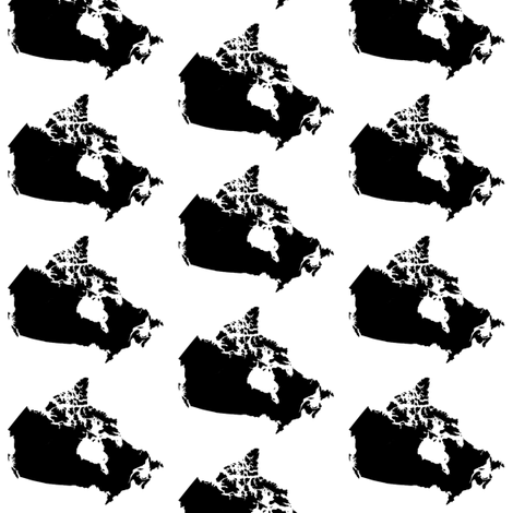 Canada // Small fabric by thinlinetextiles on Spoonflower - custom fabric