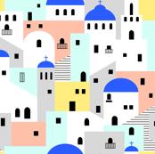 Santorini architecture