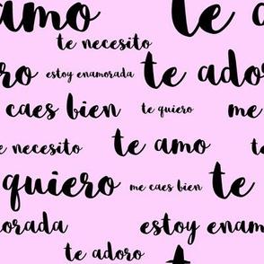 Spanish Loves in Pink