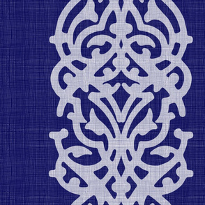 INDIGO damask linen